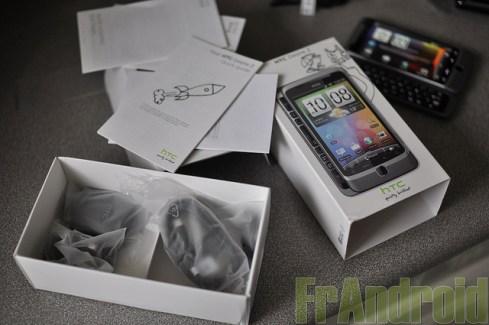 Le HTC Desire Z disponible à la vente
