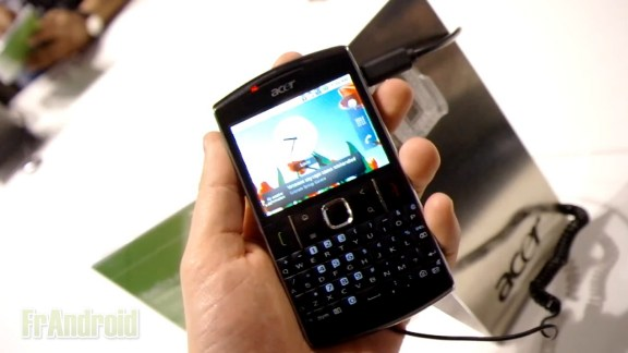 Présentation de l'Acer BeTouch E210 sous Android