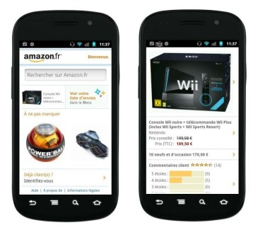 Amazon.fr, l'application disponible sur l'Android Market