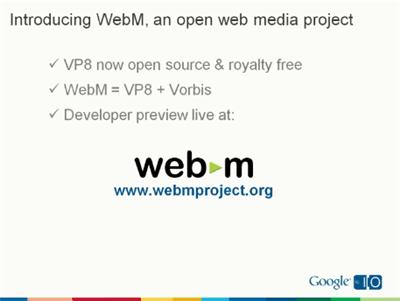 La version d'Android 2.3.3 fournit le support WebM