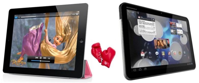 Comparaison entre l'Apple iPad 2 et la Motorola Xoom