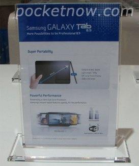 La Samsung Galaxy Tab 8,9 confirmée : 8,6mm et 470g