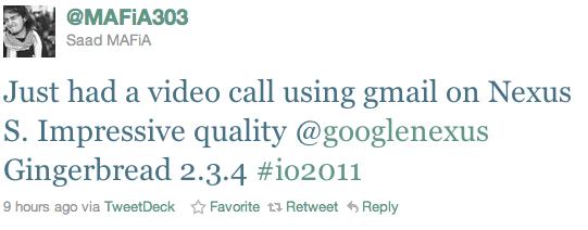 [Rumeur] Le chat vidéo avec GTalk pour Android 2.3.4 officialisé à la Google I/O ?