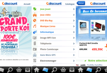 L'application Cdiscount est maintenant disponible sur l'Android Market
