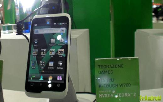 [Computex 2011] Tianyu K-Touch W700 : un smartphone sous Tegra 2 pour le marché chinois