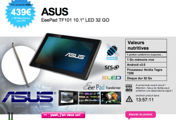 Qoqa : vente flash sur l'Asus Transformer 32 Go