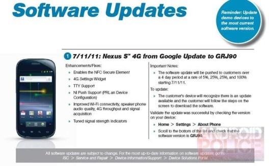 Le Nexus S 4G reçoit la mise à jour d'Android 2.3.5