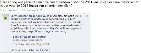 Sony Ericsson apportera Ice Cream Sandwich à sa gamme Xperia