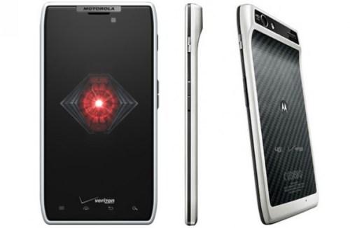 Motorola Razr en blanc