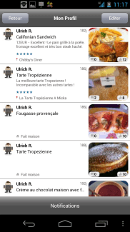 Food Reporter, le réseau social de la nourriture sur Android