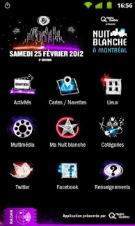 L'application de la Nuit Blanche de Montréal disponible