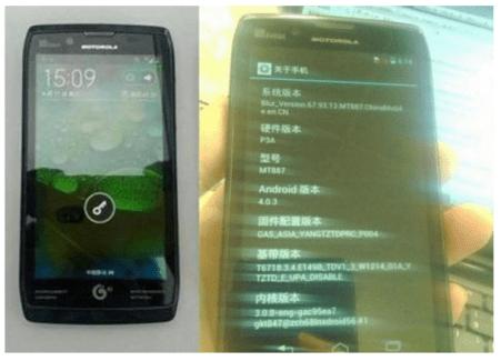 Motorola RAZR HD, 3300 mAh et un Snapdragon S4 ?