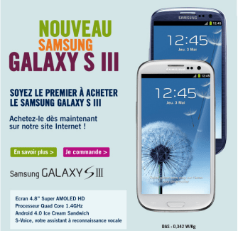 Galaxy S3 : Orange, LDLC et The Phone House également de la partie en France !