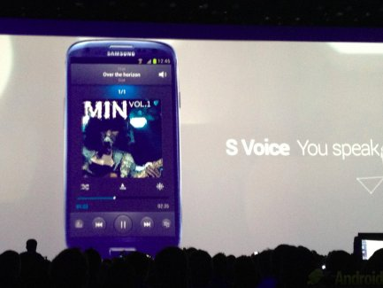 Démonstration de S Voice (Voix), le Siri-like du Galaxy S3