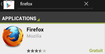 Firefox en version finale sur tablette Android