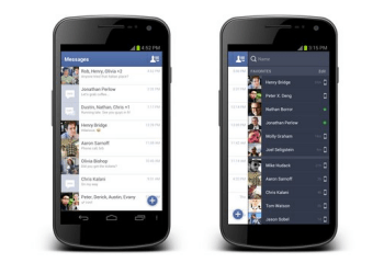 Facebook : synchronisation de photos, SMS…