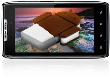 La mise à jour Ice Cream Sandwich arrive enfin sur les Motorola RAZR et RAZR Maxx français