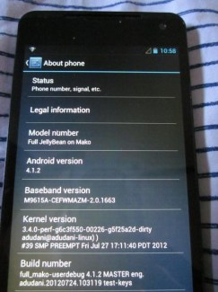 D'autres photos du probable Nexus par LG