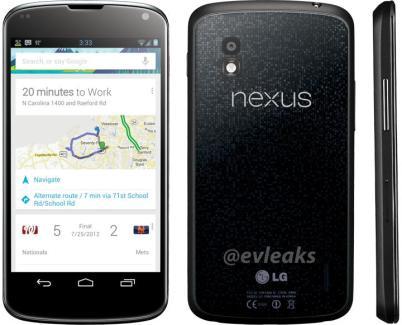 Une image officielle du Google (LG) Nexus 4 ?