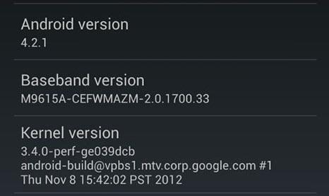[MàJ] Android 4.2.1 arrive sur les Galaxy Nexus (takju et yakju)