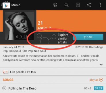 Google Music Explorer fait son apparition chez certains utilisateurs du Play Store