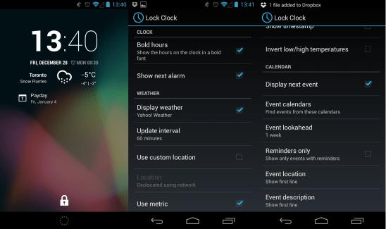 Lock Clock, un nouveau widget d'horloge personnalisable pour l'écran de verouillage sur Cyanogen