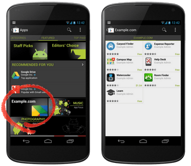 Google Play Private Channel, la distribution d'applications pour les entreprises