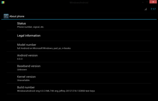 Windows 7 et 8 : Android 4.0.3 alias Ice Cream Sandwich sans virtualisation
