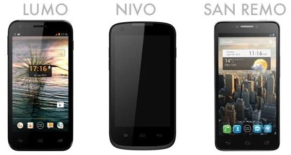 Orange France dévoile trois nouveaux smartphones : Lumo, Nivo et San Remo