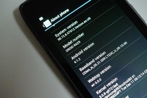 Motorola RAZR, la mise à jour d'Android 4.1.2 est là !