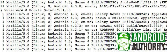 Quelques autres smartphones aperçus sous Android 4.3
