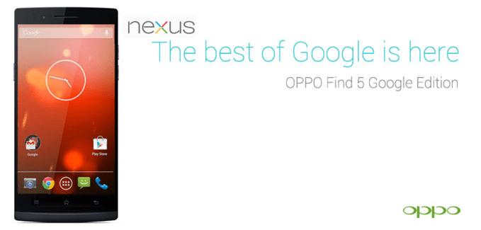 Oppo, vers un Oppo Find 5 Google Edition ?
