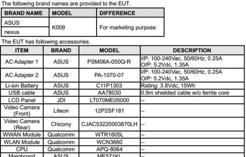 Nexus 7 II : Snapdragon 600 confirmé ?