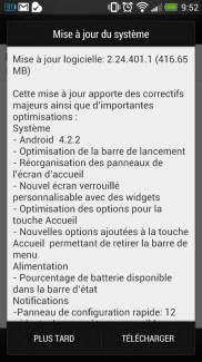 Android 4.2.2 s'invite sur les HTC One français