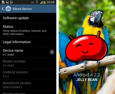 Fuite d'Android 4.2.2 pour le Galaxy Grand GT-i9082