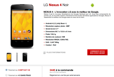 Les Nexus 4 et Galaxy Trend s'invitent chez Free Mobile