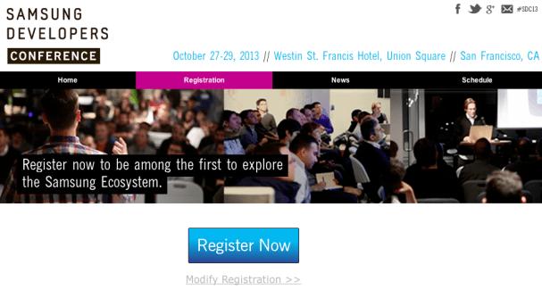 Samsung Developers Conference : les inscriptions sont ouvertes