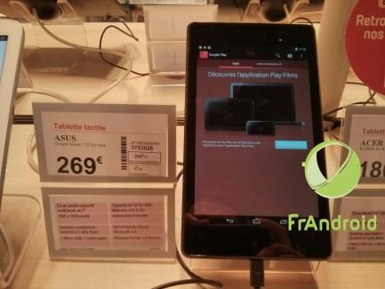 La Nexus 7 (2013) déjà en vente chez Darty