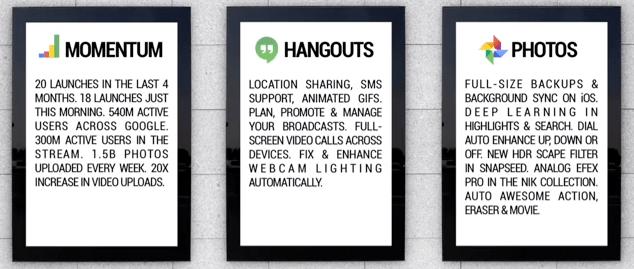 Conférence Google : quand Hangouts intègre les SMS et lit les GIF, Google+ mise sur Snapseed