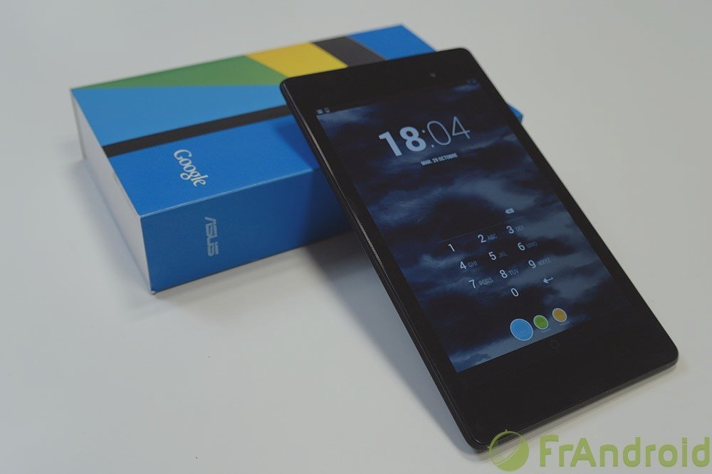 Test de la Google Nexus 7 (2013)