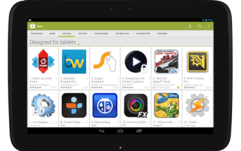 Play Store : une nouvelle version adaptée au format tablette est disponible