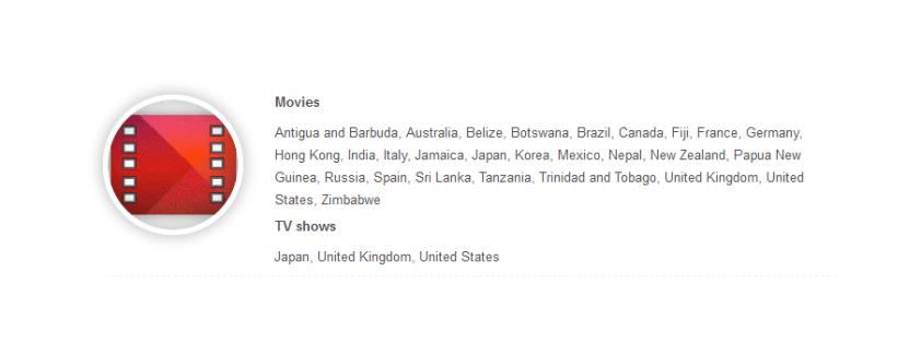Google Play Movies est désormais disponible dans 13 nouveaux pays, dont Hong Kong