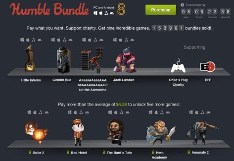 Humble Bundle PC and Android 8 : trois nouveaux jeux ont été ajoutés