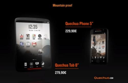 La Quechua Tab 8 : la tablette pour randonneurs sera compatible 3G