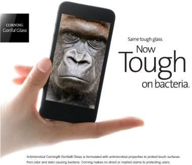 Gorilla antimicrobien : Corning veut vous protéger des germes