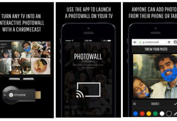 Photowall pour Chromecast, le collage interactif de photos sur votre TV