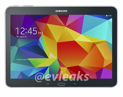 Des images leakées de la Samsung Galaxy Tab 4 10.1