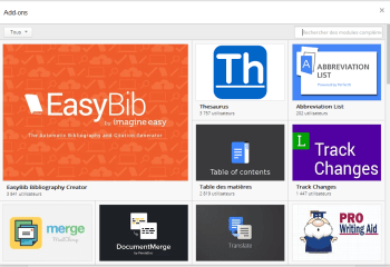 Google Docs : Une boutique pour installer des add-on
