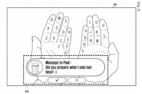 Galaxy Glass et réalité augmentée : Samsung veut transformer vos mains en clavier