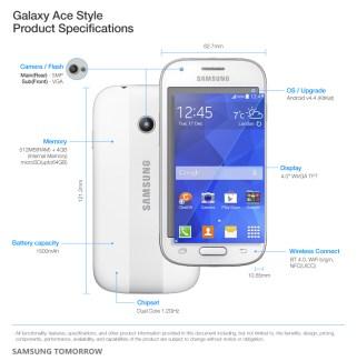 Le Samsung Galaxy Ace Style est officiel, avec du KitKat en entrée de gamme